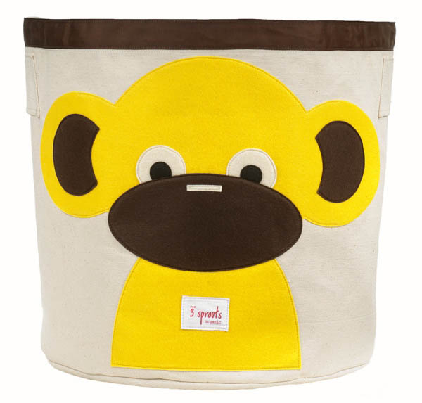 Storage Bin - Yellow Monkey