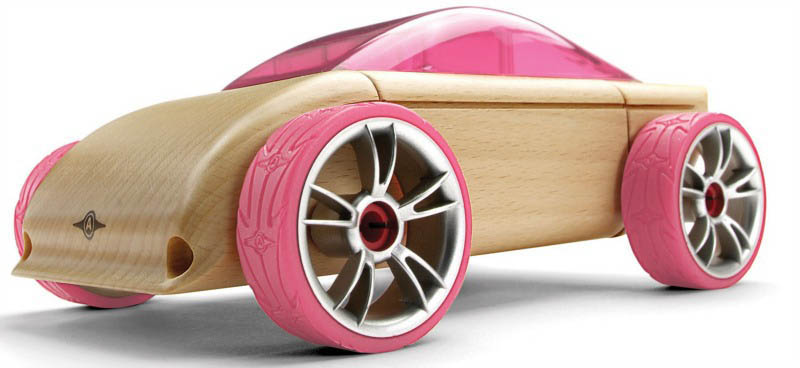 Automoblox-Wooden Cars-Mini C9 Sports {Pink}