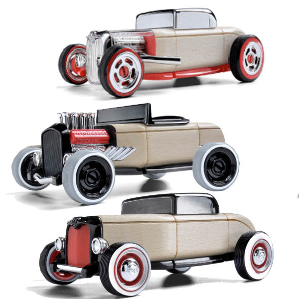 Automoblox-Wooden Cars-Mini Hot Rods {3 Pack}