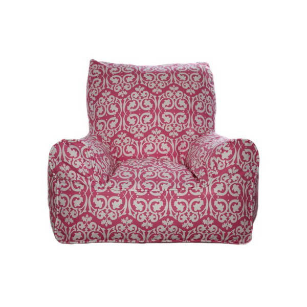Lelbys-Kids Bean Bags-Bean Chair {Damask Pink}