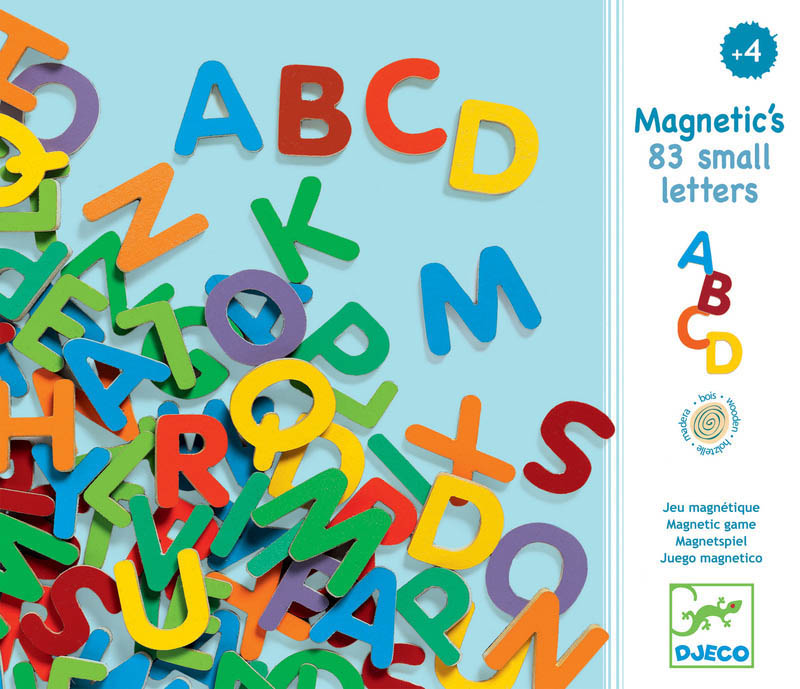 Djeco - Magnetic Uppercase Letters (83 pcs)