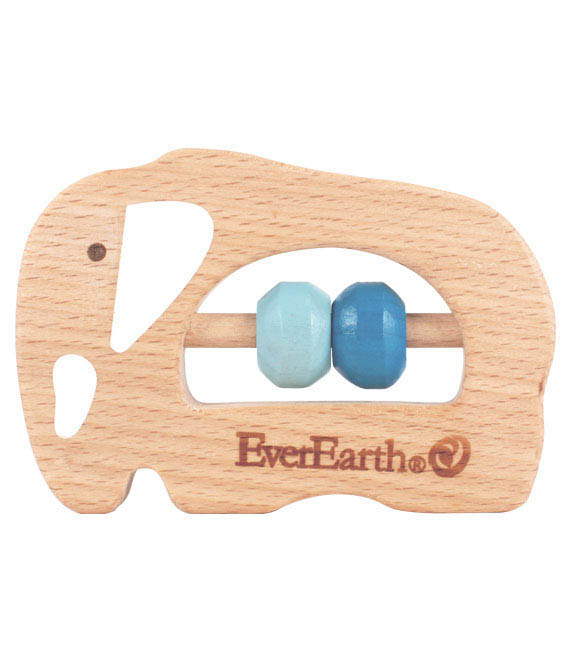 EverEarth-Wooden Toys for Babies-Elephant Grasping Toy