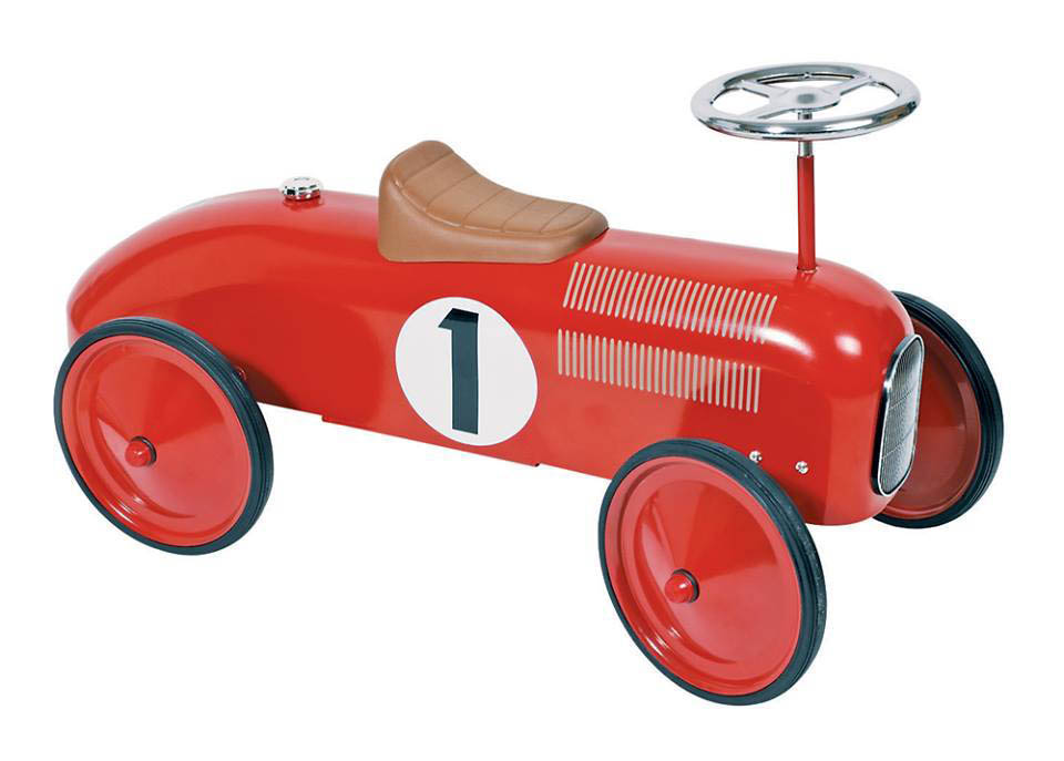 Johnco-Ride On Toys-Metal Speedster Red