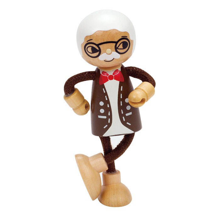 Hape-Wooden Dolls for Kids-Grandfather