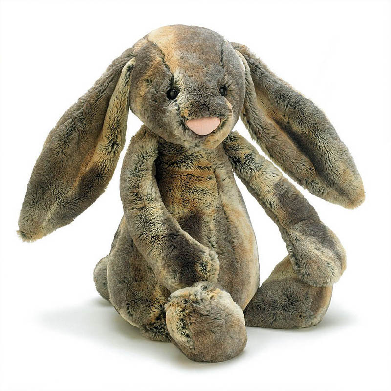 Jellycat-Soft Toys-Bashful Cottontail Bunny Grey {Medium}