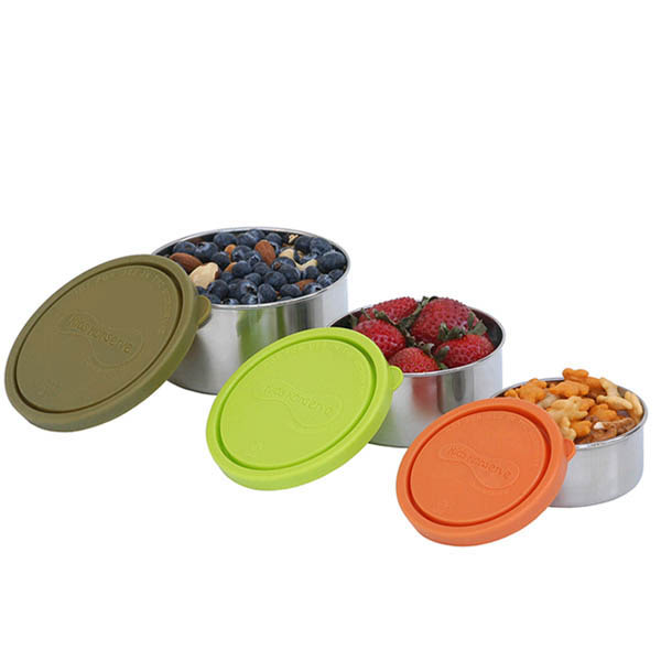 Kids Konserve Nesting Trio Containers ~ set of 3 ~Moss