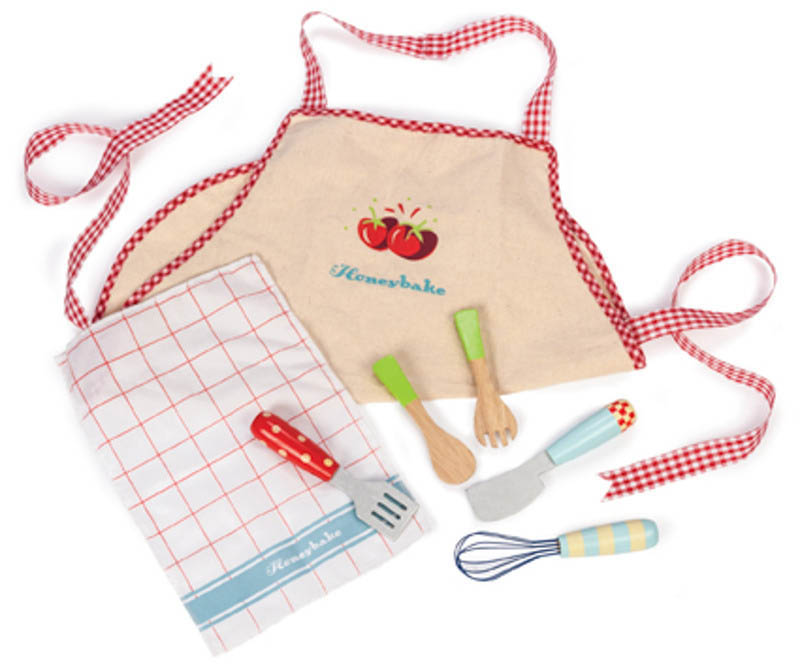 Le Toy Van-Kids Kitchen Accessories-Apron and Utensil Set