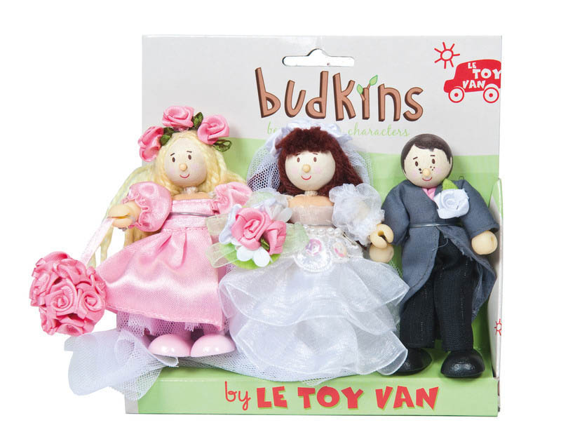Le Toy Van- Miniature Dolls- Budkins Bridal Set {Triple Pack}