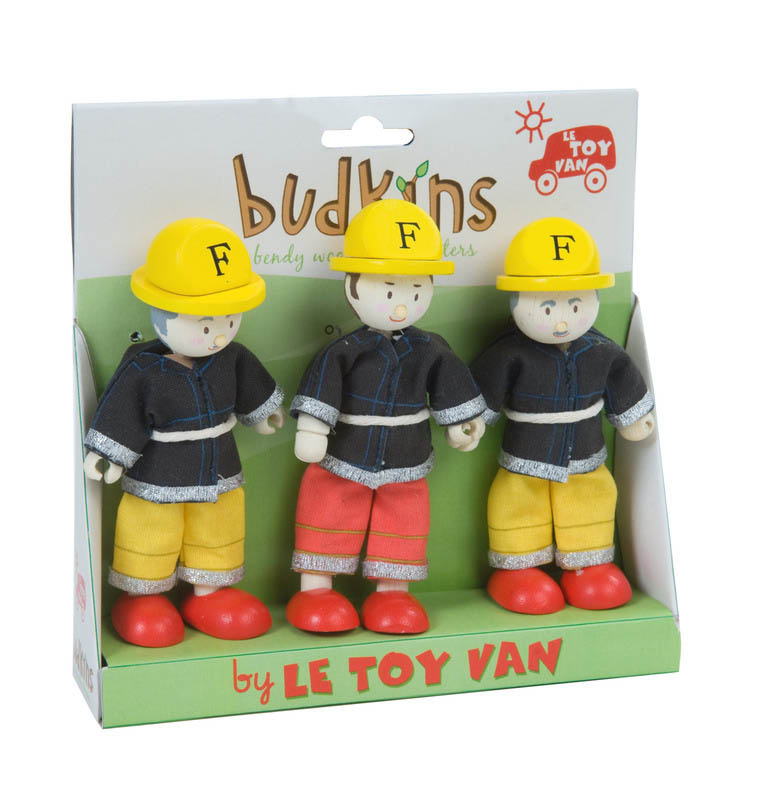 Le Toy Van- Miniature Dolls- Budkins Firefighters Set {Triple Pack}