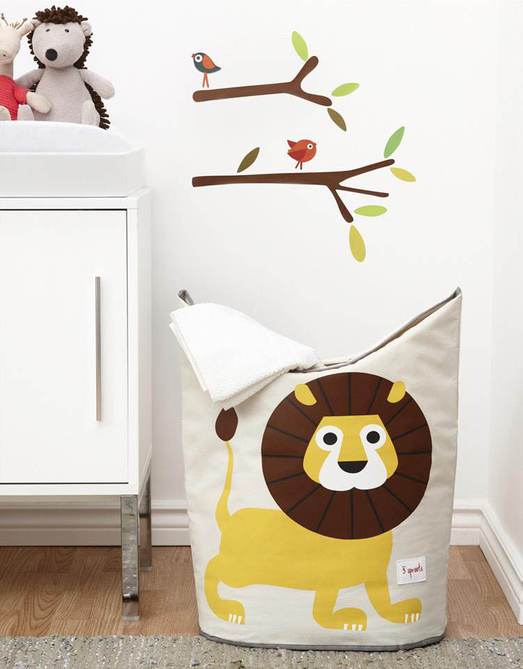 3 Sprouts-Storage Solutions-Lion Laundry Hamper