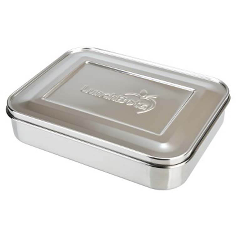 lunchbots stainless steel lunch box bento trio stainless steel lid. Black Bedroom Furniture Sets. Home Design Ideas