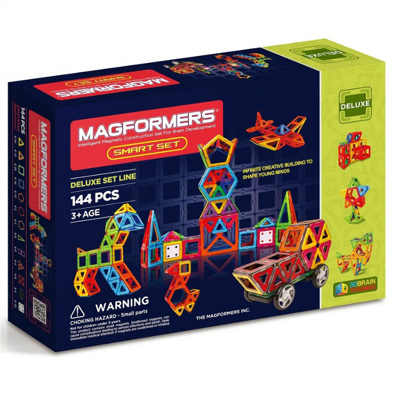 Magformers - Deluxe 144pcs Smart set