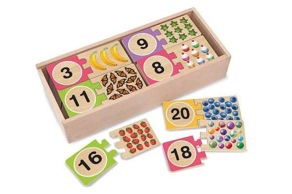Melissa & Doug Numbers wooden puzzle cards