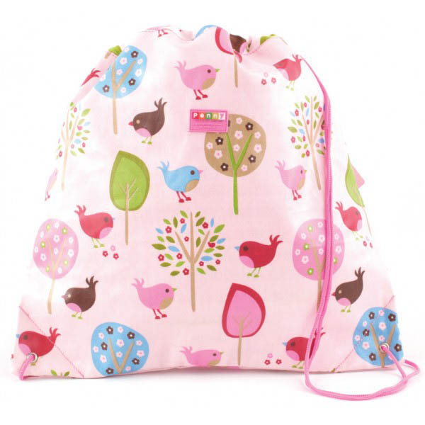 Penny Scallan-Library/Swimming Bags-Drawstring Bag {Chirpy Bird}