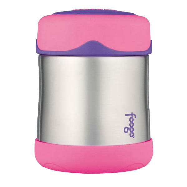 Foogo Thermos Insulated Food Container 290ml- Pink