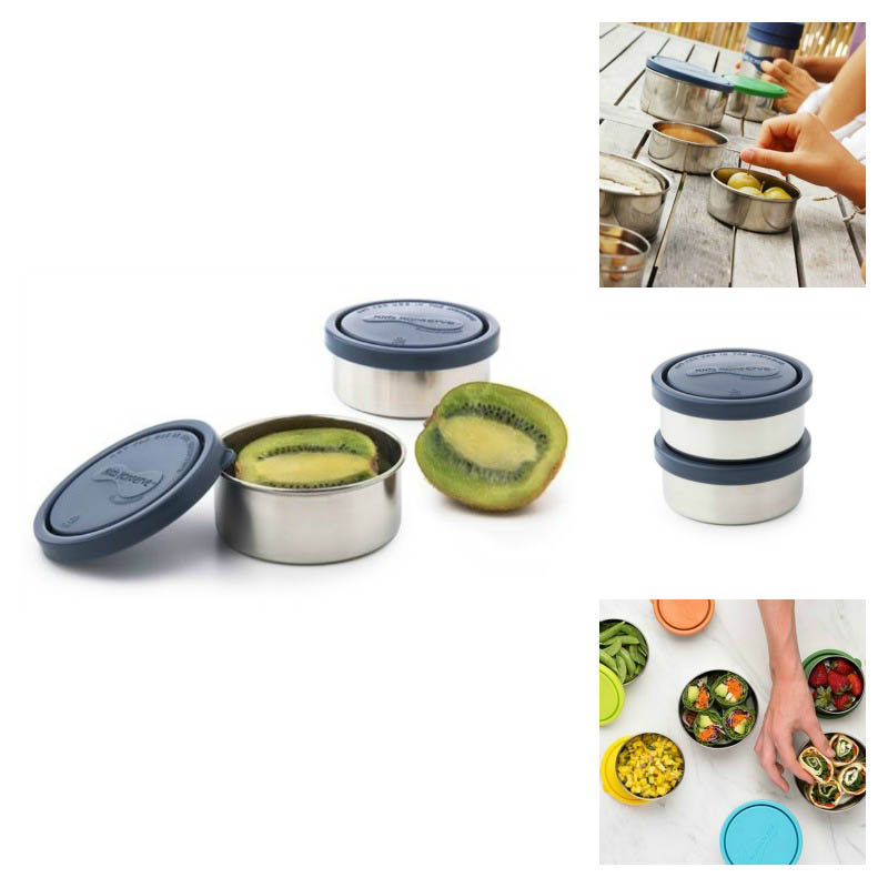 U Konserve Round Leakproof  Small Containers-Ocean-Set of 2