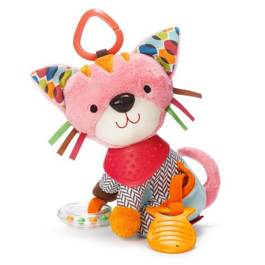 Skip Hop-Baby Toys-Bandana Buddies Stroller Toy {Kitty}