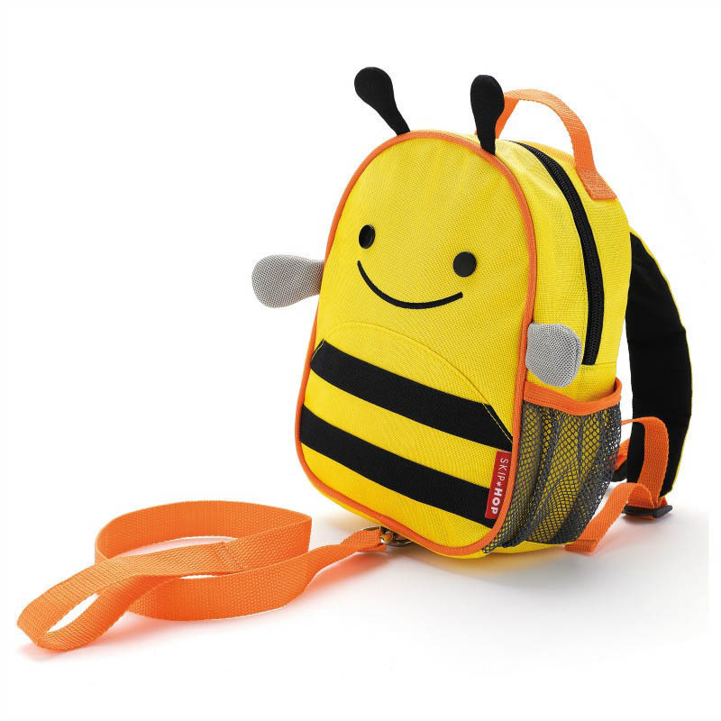 Skip Hop Zoo-Kids Backpacks- Let Mini Backpack with Safety Harness {Bee}