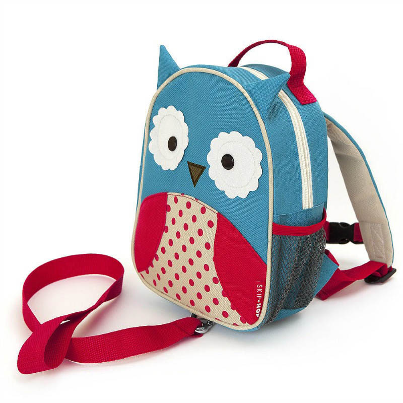 Skip Hop Zoo-Kids Backpacks- Let Mini Backpack with Safety Harness {Owl}