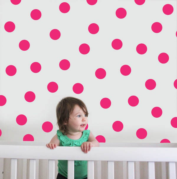 Speckled House-Kids Room Decor-Wall Decals {Hot Pink Dots}