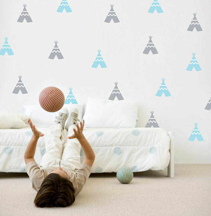 Speckled House-Kids Room Decor-Wall Decals{Teepees}