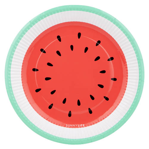 Sunny Life Paper Plates set of 12 - Watermelon