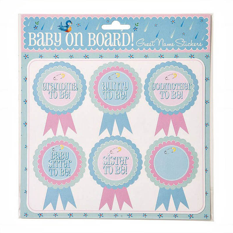 Talking Tables-Baby Shower Essentials-Guest Name Stickers