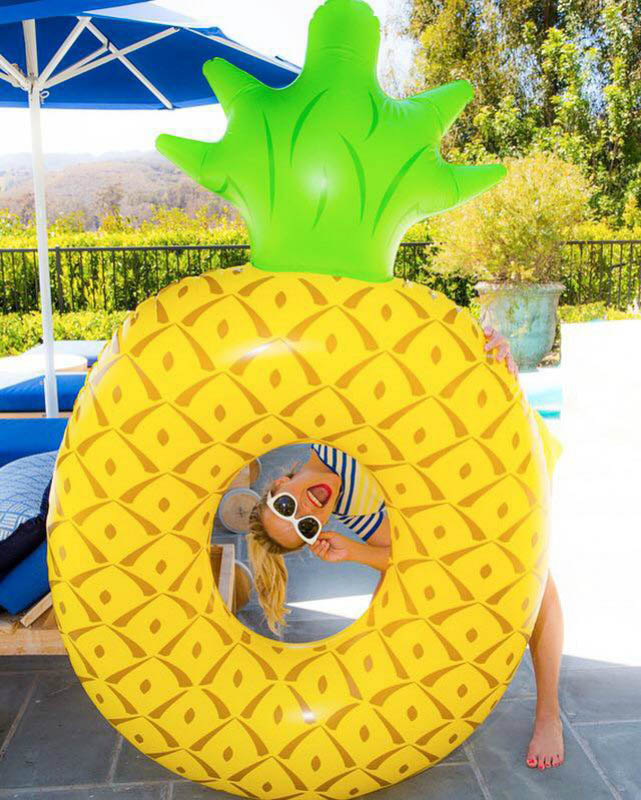ECD Giant Inflatable Pineapple Pool Float