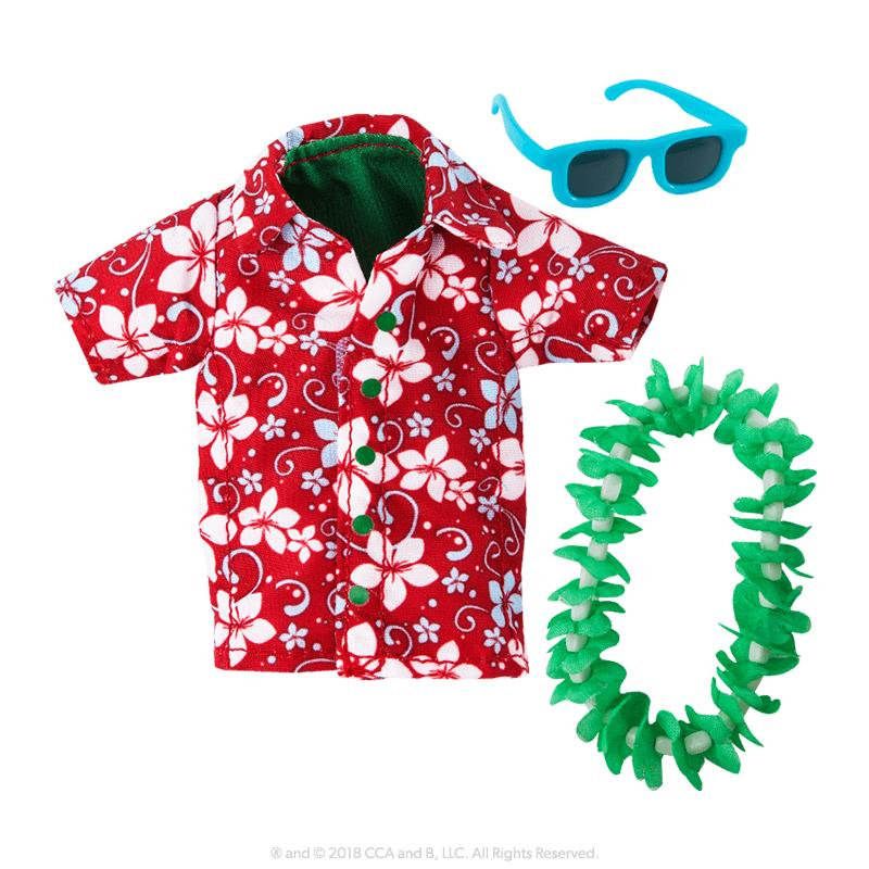 Elf on a shelf CLAUS COUTURE COLLECTION® HOLIDAY HAWAIIAN SHIRT