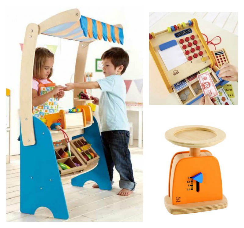 Hape Market Stand Checkout Set