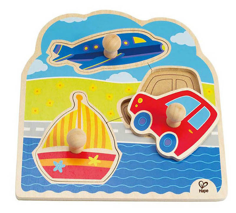 Hape Travel Knob Puzzle