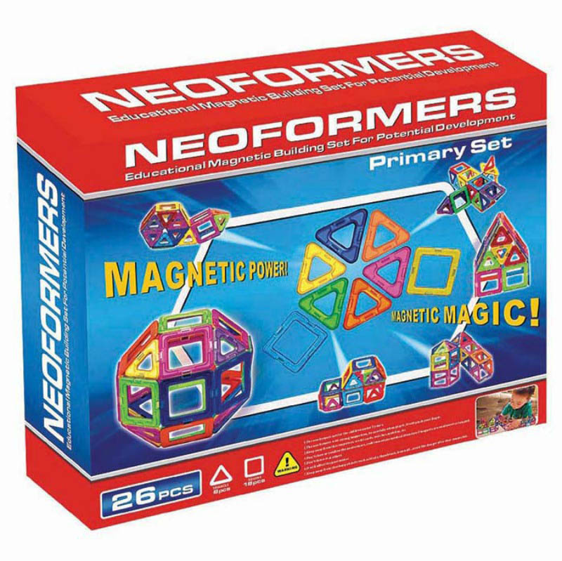 Neoformers Magnetic Building Primary 26pcs Set