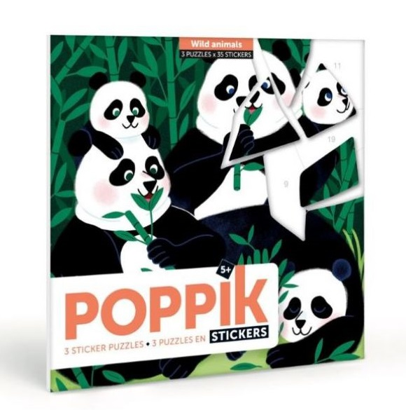 Poppik Puzzles And Stickers Wild Animals