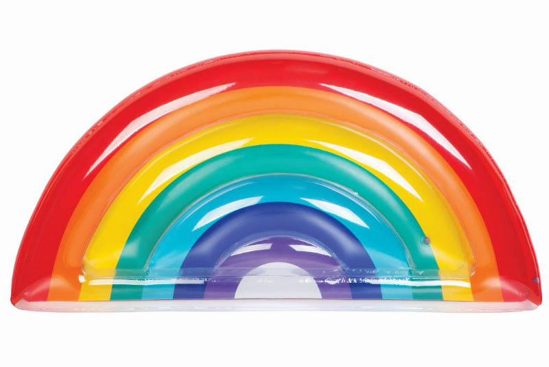 Sunny Life Luxe Lie-On Inflatable Rainbow