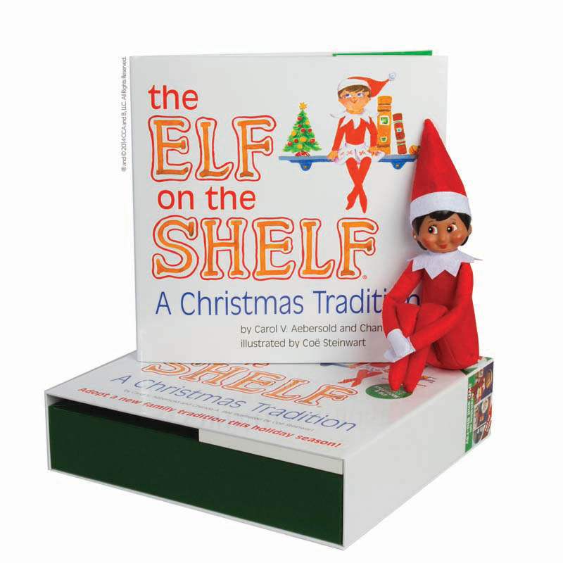 The Elf on the Shelf A Christmas Tradition with Girl Scout Elf brown eyes